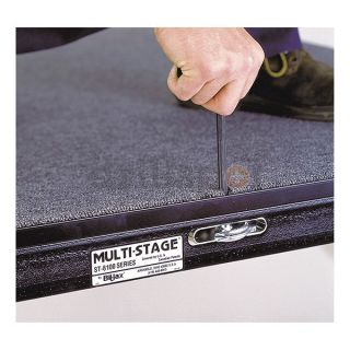 Bil Jax 0106 GCSP 12X16 Carpeted Port. Stage Package, 16 x 12 Ft.