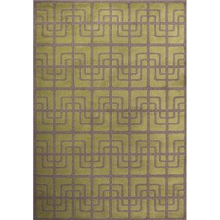Miramar Green/ Grey Contemporary Area Rug (910 x 129)