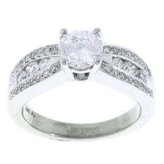 14k White Gold 1ct TDW Diamond Engagement Ring