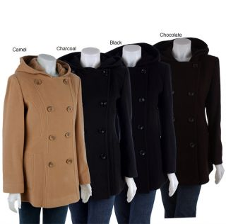 AK Anne Klein Peacoat with Half Curved Seams