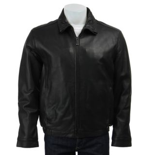 Marc New York Mens Leather Zip Front Jacket