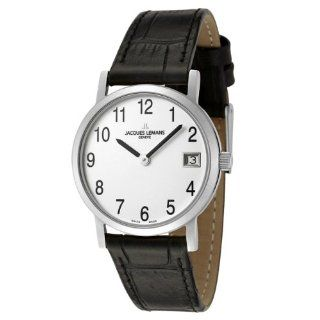 Jacques Lemans Womens GU198B Geneve Collection Baca Black Leather