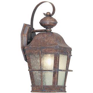 Patina Bronze Lantern Outdoor Wall Light Fixture