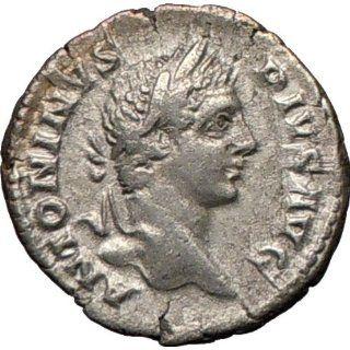CARACALLA 205AD Silver Ancient Authentic Roman Coin Nude MARS WAR God