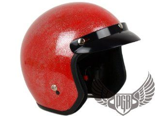 PGR 205 Retro Vintage Bobber Motorcycle Helmet DOT Approved (Large
