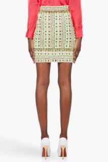 Matthew Williamson Multicolor Tweed Mini Skirt for women