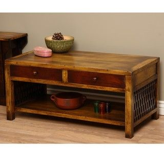 Colombian Inspiration Wooden Coffee Table (Indonesia)