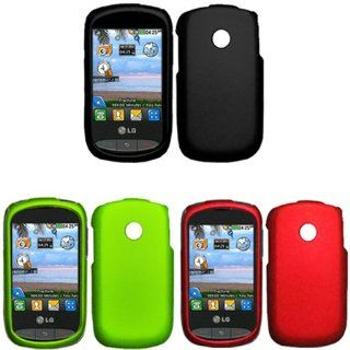 iFase Brand LG 800G Combo Rubber Black Protective Case