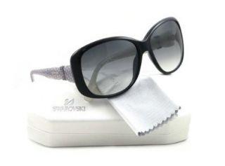 Swarovski April SK0012 Sunglasses   05B Black (Gray