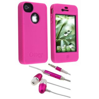 OtterBox Apple iPhone 4 Pink Impact Case/ Stereo Headset