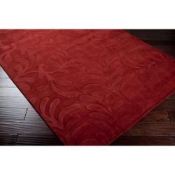 Candice Olson Loomed Hand crafted Halifax Floral Pllush Wool Rug (9 x