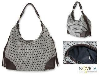 Cotton Chiang Mai Puzzle Large Hobo Bag (Thailand)
