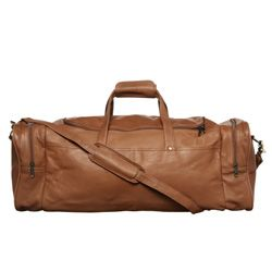 Royce Leather Top Grain Nappa 22 inch Carry On Duffel Bag
