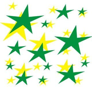 set of 202 Yellow and Forest Green stars Vinyl wall