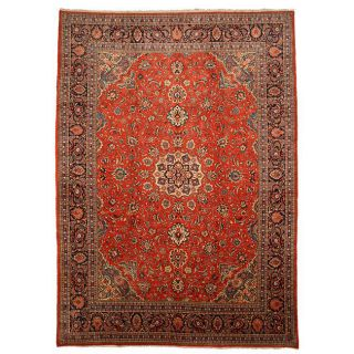 Hand knotted Sarouk Rust Persian Wool Rug (911 x 137)