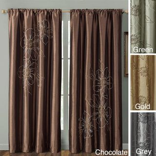 Carrie 84 inch Embroidered Faux Silk Window Panel