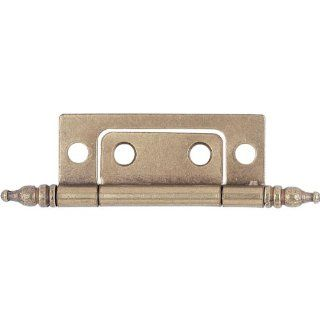Cabinet Hinges With Finials, Hand Rubbed Brass (Pair