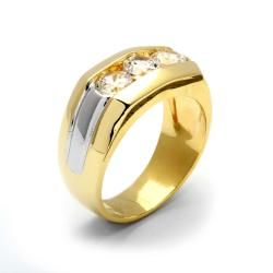 Ultimate CZ Goldplated Mens Cubic Zirconia Ring