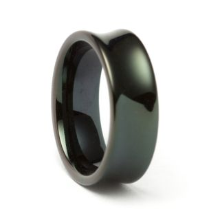 Black Tungsten Concave Band (8 mm)