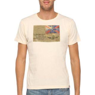 FRESH BRAND T Shirt Homme Beige   Achat / Vente T SHIRT FRESH BRAND T