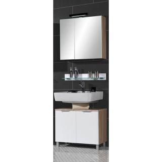 SANTOS meuble sous lavabo Blanc 57 cm   Achat / Vente MEUBLE SOUS LAVE