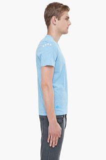 G Star Pastel Blue V neck T shirt for men