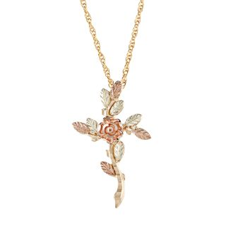Black Hills Gold Rose Cross Necklace Today $139.99