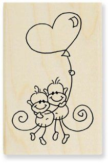 Changitos Love Balloon M205   Changito Rubber Stamps By