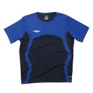 Coloris  bleu et noir. Maillot de Foot UMBRO Enfant, 100 % polyester