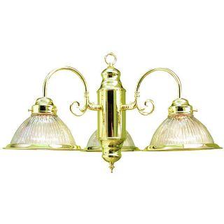 Woodbridge Lighting Basic 3 light Polished Brass Chandelier Was $70