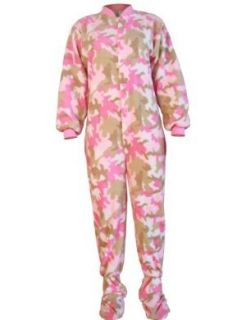 Big Feet Pjs Pink Camouflage (207) Micro polar Fleece
