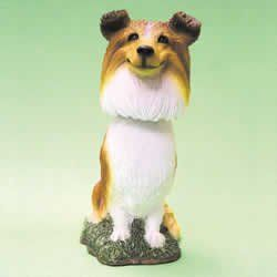 Mini Bobble Head Dog Sheltie Toys & Games