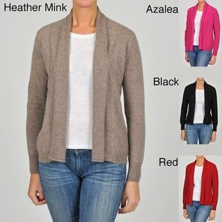 In Cashmere Womens Cashmere Open front Cardigan
