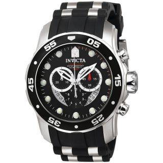 Invicta Mens Pro Diver Black Strap Watch