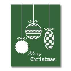 Trendography Prints Christmas Ornaments Graphic Art Print