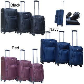 Calpak Barclay 3 piece Lightweight Expandable Softside Luggage Set