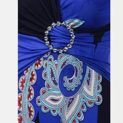 Tabeez Womens Paisley Rhinestone Dress