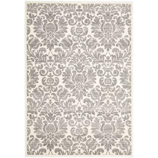 Porcello Damask Ivory/ Grey Rug (4 x 5 7)