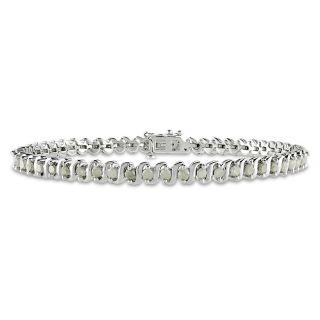 Miadora Sterling Silver 2ct TDW Diamond Bracelet (H I, I3)