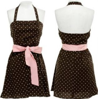 HEART SOUL Stretch Polka dot Halter Dress W/ Belt