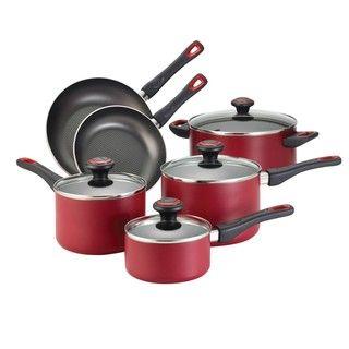 Farberware Red 10 piece Cookware Set