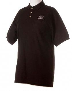 Glock Short Sleeve X Large Black Polo Shirt Md AP60605