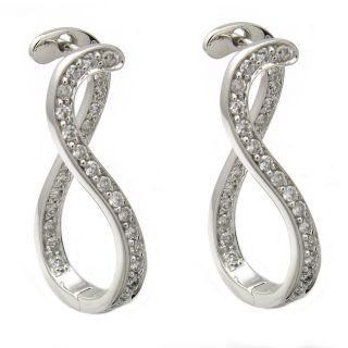 Beverly Hills Charm 14k White Gold 3/4ct TDW Figure 8 Diamond Earrings