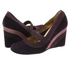 Taryn Rose Derica Blackberry Camoscio Pumps/Heels