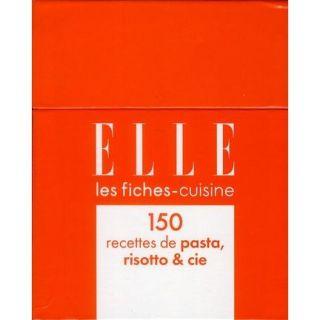Coffret fiches Elle ; 150 recettes de pasta ris  Achat / Vente