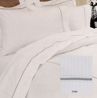 Hotel Collection 300 Thread Count Hemstitch White Sheet Set