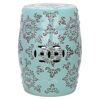 Paradise Pacific Light Blue Ceramic Garden Stool