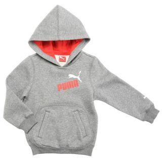 Sweatshirt gris chiné. Sweat à capuche intégrée doublée 100%