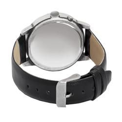 Lucky Brand Womens Instalite Black Leather Strap Watch