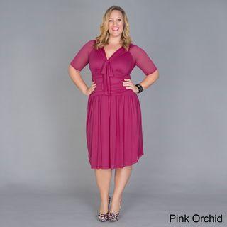 Kiyonna Womens Shirley Plus Size Swing Dress